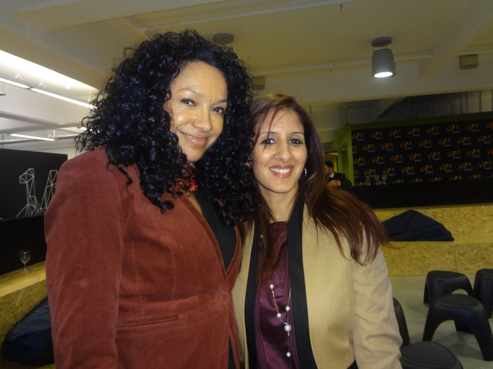 With the lovely Kanya King - founder of the MOBO awards